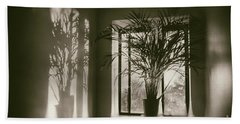 Shadows Dance Upon The Wall Beach Towel