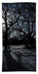 Shadows In January Snow Beach Sheet