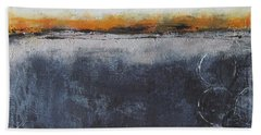Beach Towel featuring the painting Shadows In The Night by Nicole Nadeau