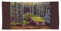 Beach Sheet featuring the painting Shady Grove by Nancy Jolley
