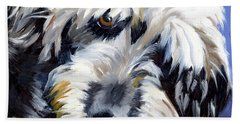 Shaggy Dog Portrait Beach Sheet