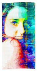 Shailene Woodley Beach Sheet by Svelby Art