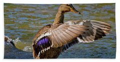 Beach Towel featuring the photograph Shake It Off by Linda Unger