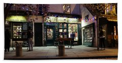 Beach Towel featuring the photograph Shakespeare Book Shop 1 by Andrew Fare