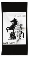 Beach Towel featuring the digital art Shalimar by ReInVintaged
