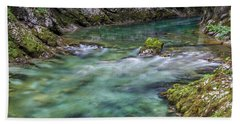 Beach Towel featuring the photograph Shallows In The Gorge - Slovenia by Stuart Litoff