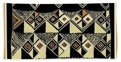 Beach Towel featuring the digital art Shaman Tribal Kuba by Vagabond Folk Art - Virginia Vivier