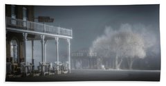 Beach Towel featuring the photograph Shaniko Hotel And Wagon Yard by Cat Connor