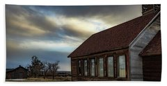 Beach Towel featuring the photograph Shaniko Schoolhouse by Cat Connor