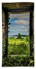 Beach Towel featuring the photograph Shannon Estuary From Abandoned Paradise House by James Truett