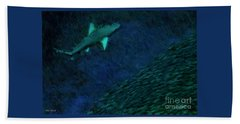 Shark In The Dark Beach Towel
