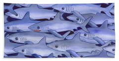 Sharks Beach Towel