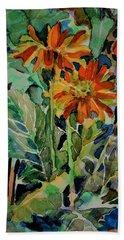 Shasta Daisies Beach Towel by Mindy Newman