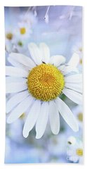 Shasta Daisy Beach Towel by Stephanie Frey