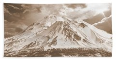 Beach Towel featuring the photograph Shasta Mt by Athala Carole Bruckner