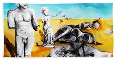 Beach Sheet featuring the painting Shattered Limbs To Shattered Souls by Helen Syron