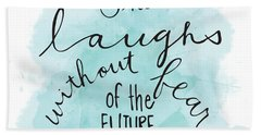 She Laughs Beach Towel