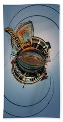 Beach Towel featuring the photograph Shea's On Main Street Buffalo - Tiny Planet by Chris Bordeleau
