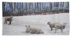 Sheep In Field Beach Sheet
