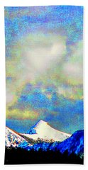 Sheep's Head Peak After April Snow Beach Towel by Anastasia Savage Ealy
