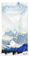 Sheep's Head Peak April Snow Beach Towel by Anastasia Savage Ealy
