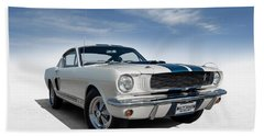 Beach Towel featuring the digital art Shelby Mustang Gt350 by Douglas Pittman