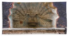 Shell Shaped Fountain In San Miguel Mexico Beach Towel