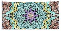 Shell Star Mandala Beach Sheet by Deborah Smith