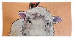 Shelley The Sheep Beach Towel