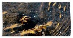 Shellfish In Golden Tides  Beach Towel