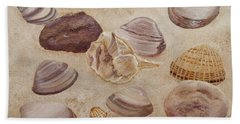 Shells And Stones Beach Towel