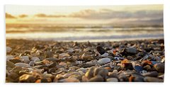 Beach Sheet featuring the photograph Shells At Sunset by April Reppucci