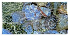 Shells Underwater 20 Beach Towel