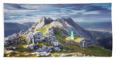 Shelter In The Top Of Urkiola Mountains Beach Towel