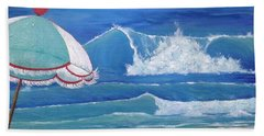 Sheltered Waves Beach Towel
