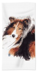 Sheltie Beach Towel