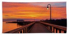 Shem Creek Pier Beach Towel