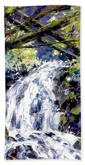 Shepherds Dell Falls Coumbia Gorge Or Beach Towel