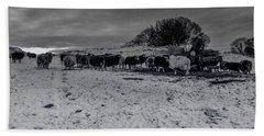 Shepherds Work Beach Towel by Keith Elliott