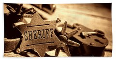 Sheriff Tools Beach Sheet by American West Legend By Olivier Le Queinec