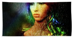She's Like A Rainbow Beach Towel by LemonArt Photography