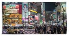 Shibuya Crossing, Tokyo Japan Beach Towel