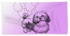 Shih Tzu Beach Towel