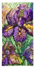 Shimmering Irises Beach Sheet