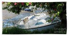 Shindilla Framed With Flowers Beach Towel