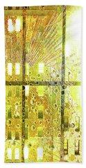 Beach Towel featuring the mixed media Shine A Light by Tony Rubino
