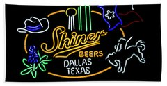 Shiner Beers Dallas Texas Beach Towel