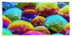 Beach Towel featuring the photograph Shiney Bubbles by Jean Noren