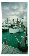 Shinnecock Fishing Vessels Beach Towel
