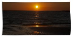 Ship Bottom Sunset Beach Towel by Elsa Marie Santoro